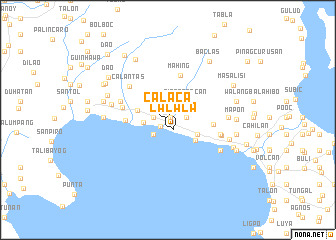map of Calaca