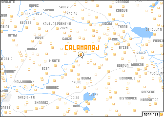 map of Çalamanaj