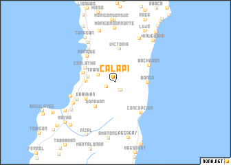 map of Calapi