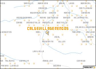 map of Caldevilla de Rengos