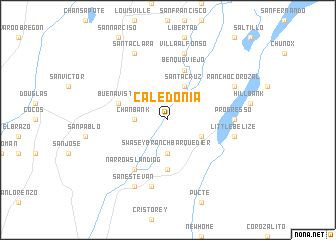 map of Caledonia