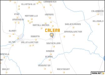 map of Calera