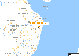map of Calindagan