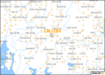 map of Calizon
