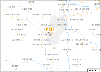 Cali colombia map nona map of cali publicscrutiny Image collections