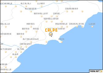 Calpe (Spain) map   nona.net