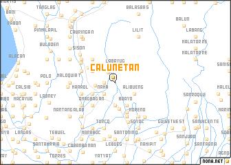map of Calunetan