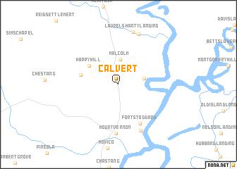 map of Calvert