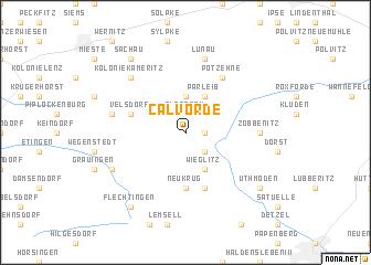 map of Calvörde