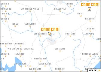 map of Camaçari