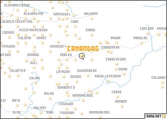 map of Camandag