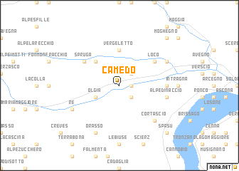 map of Camedo