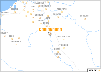 map of Camingawan