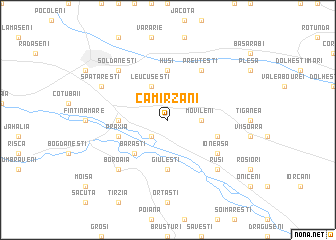 map of Cămîrzani