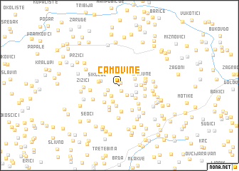map of Čamovine