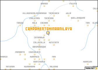 map of Campamento Mina Añilaya