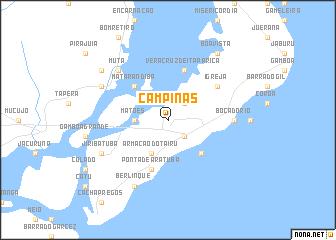 Campinas Brazil map nonanet