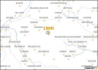 map of Campi