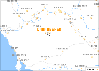 map of Camp Meeker