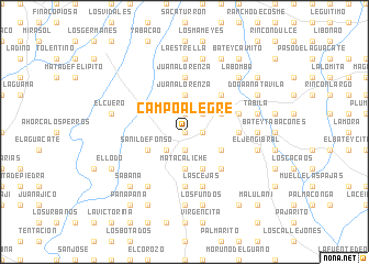 map of Campo Alegre