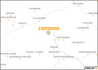map of Campoamor