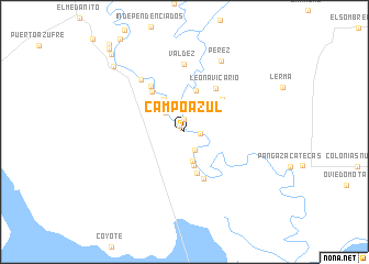 map of Campo Azul