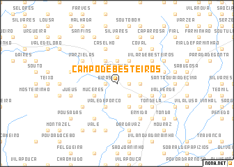 map of Campo de Besteiros