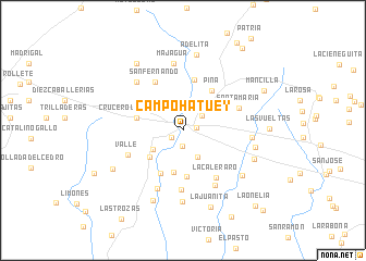 map of Campo Hatuey