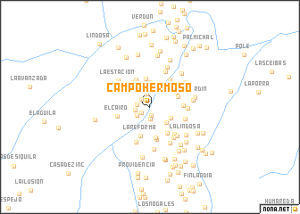 map of Campo Hermoso