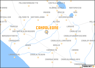 map of Campoleone