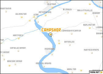 map of Camp Shor