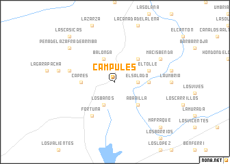 map of Campules