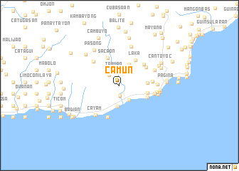 map of Camun