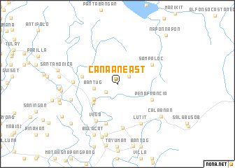 map of Canaan East