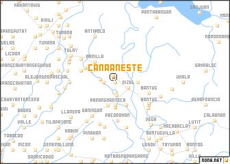 map of Canaan Este