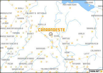 map of Canaan Oeste