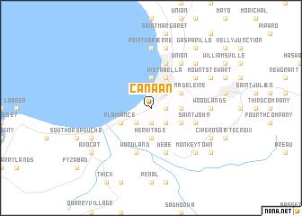 Canaan trinidad and tobago map nona map of canaan sciox Choice Image