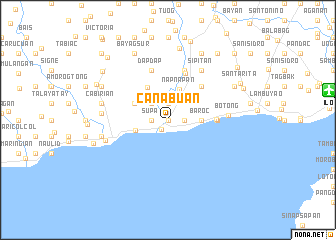 map of Canabuan