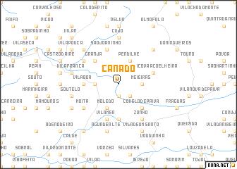 map of Canado