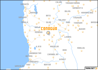 map of Canagua