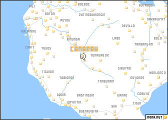 map of Canaraw