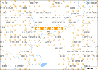 map of Canarvacanan