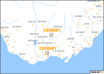 map of Canaway