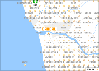 map of Candal