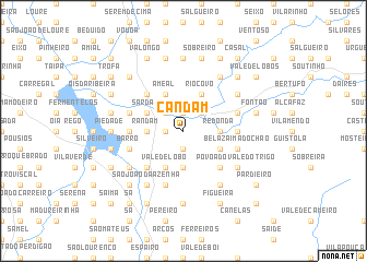 map of Candam