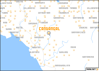map of Candañgal