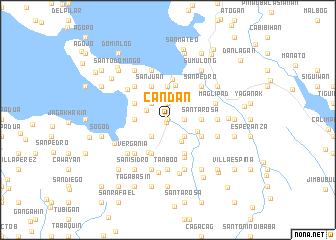 map of Candan