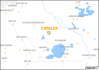 map of Candler