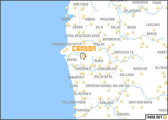 map of Candon