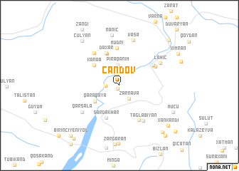 map of Cǝndov